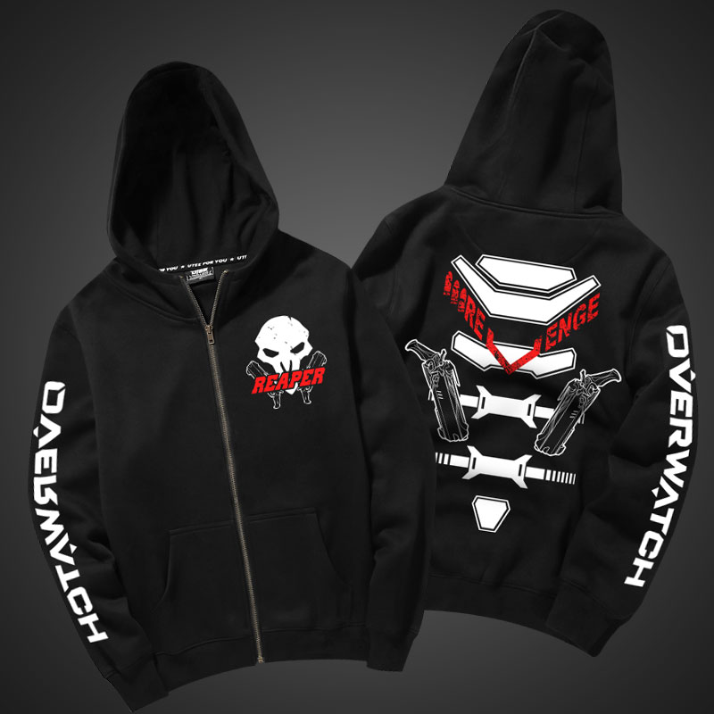 Quality Reaper Hoodie Overwatch Reaper Cosplay Sweatshirt For Men Boy