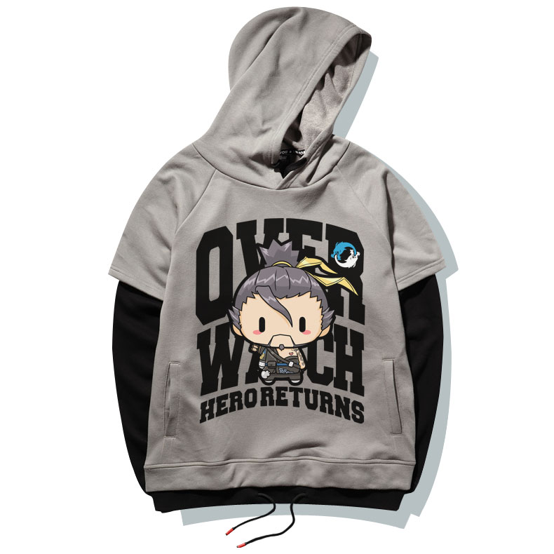 Lovely Cartoon Hanzo Sweatshirt Overwatch Hero Hoodie