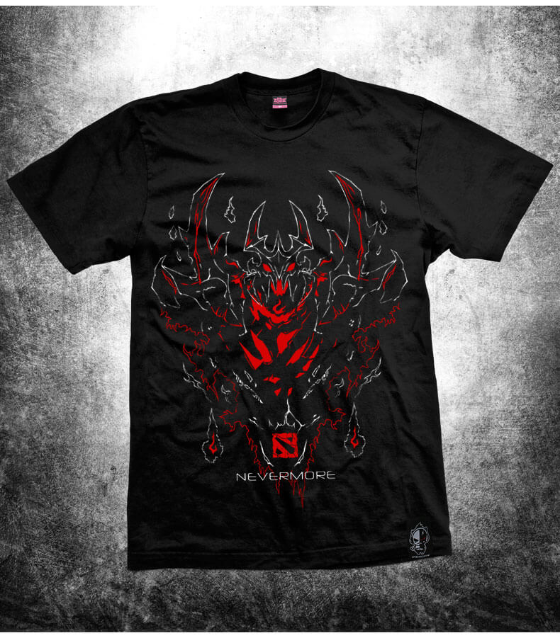 DOTA 2 SF Hero T-shirt Black Defense of Ancients Nevermore Tee Shirt