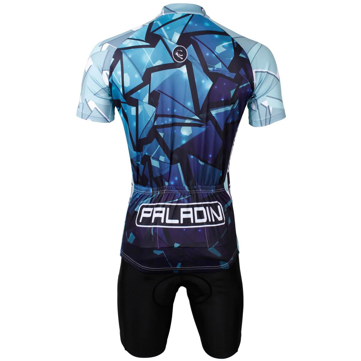 Cool Blue Glass design bike jerseys summer cycling suits for men ... 69d4aef5e