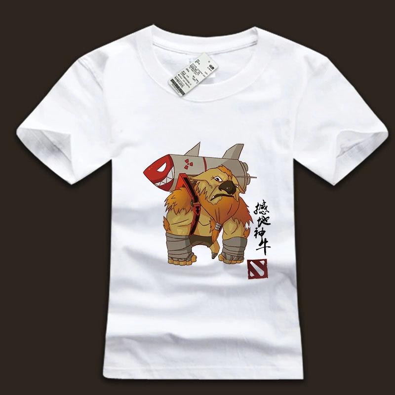 dota 2 earthshaker tshirt with dota2 logo and chinese characters