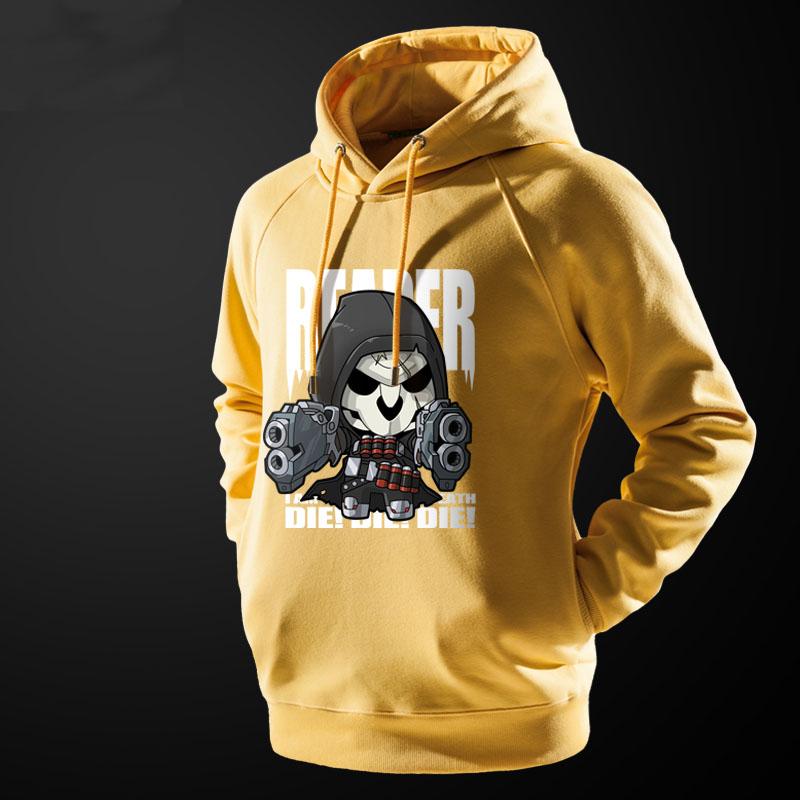 Lovely Design Overwatch Reaper Hooded Sweatshirt Black Men Hoodie