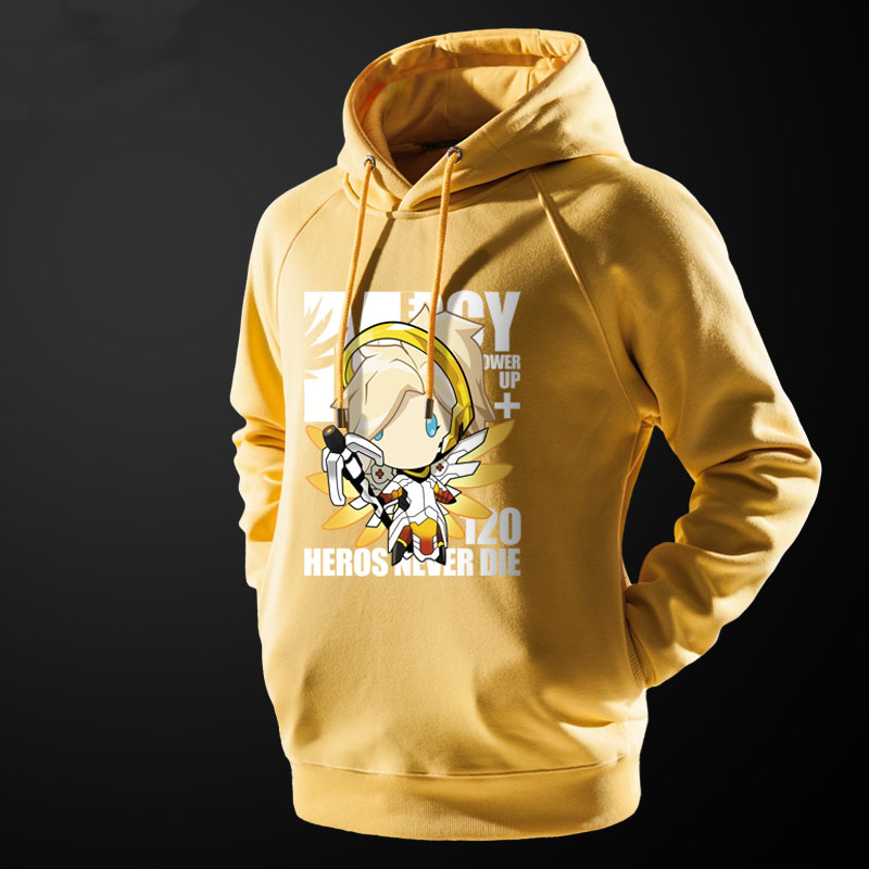 f2a432975 ... Overwatch Mercy Hooded Sweatshirt Blizzard Ow Game Black Coat for Him  ...