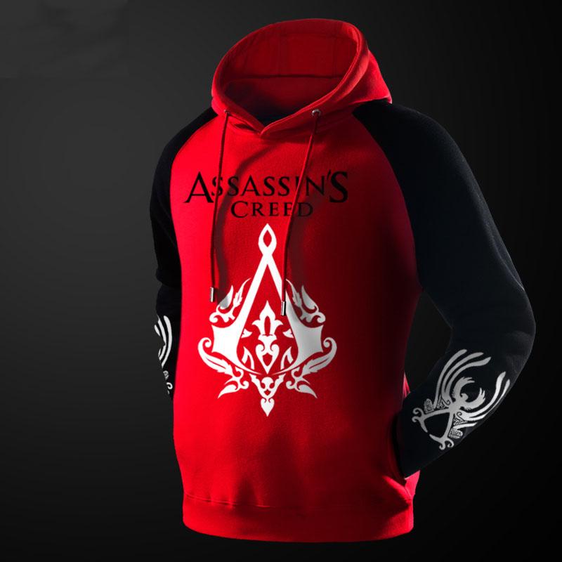 assassins creed 2 hoodie ac black fleece pullover hoodie. Black Bedroom Furniture Sets. Home Design Ideas