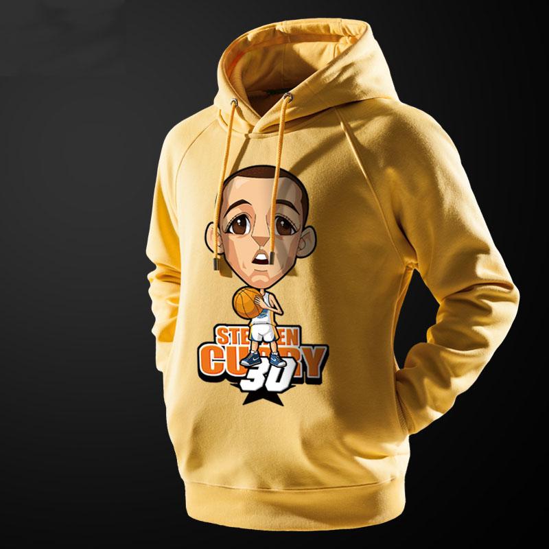NBA Curry Hoodie Men Black Hooded Sweatshirts