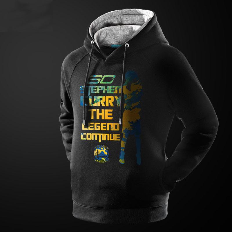 NBA Curry Hoodie For Boys Black XXXL Sweater