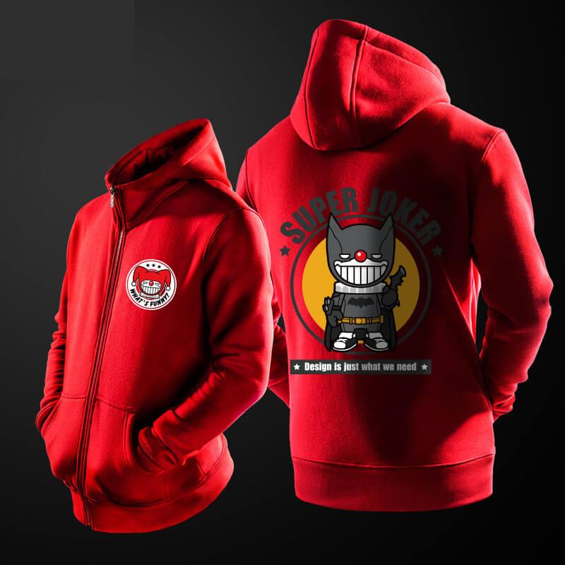 ... Lovely Cartoon Joker Batman Hoodie Black Hooded Sweatshirt For Mens 69c12479517