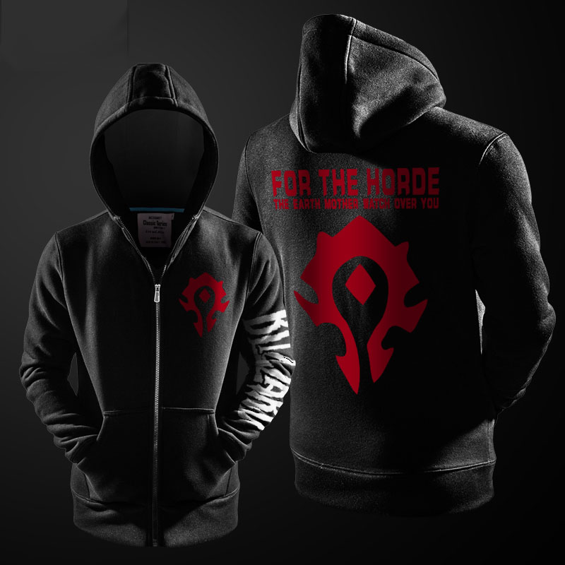 Quality WOW For the Horde Zip Up Hoodie World of Warcraft