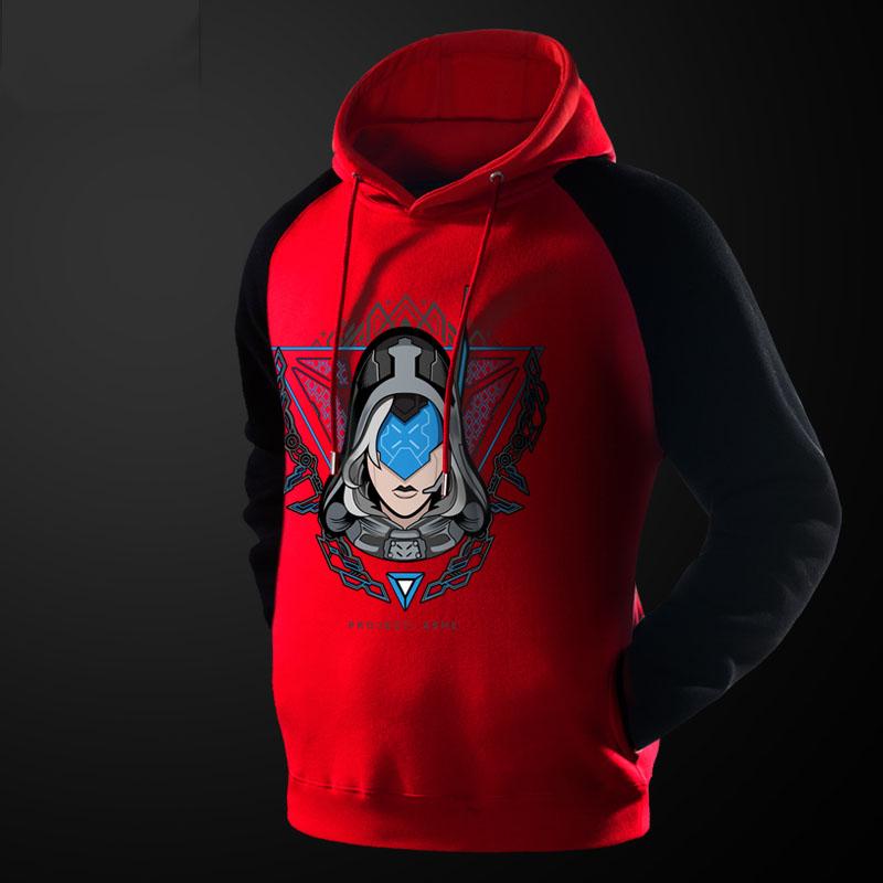 Liga de Leyendas ASHE Hoodie For Boys suéter rojo