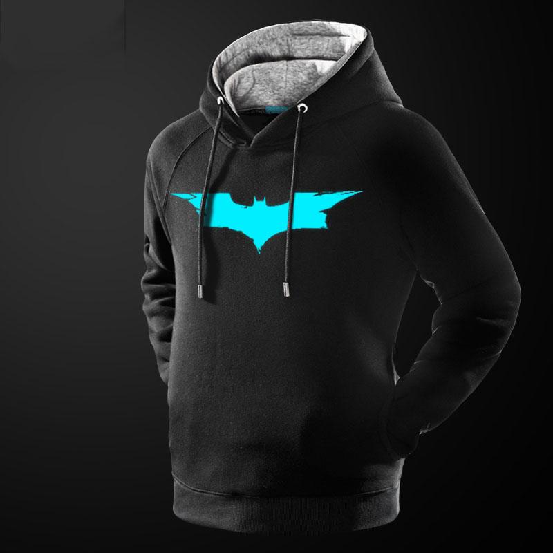 21d8c1330242 Luminous Batman Hooded Sweatshirt Black Mavel Batman Hooded Sweater ...