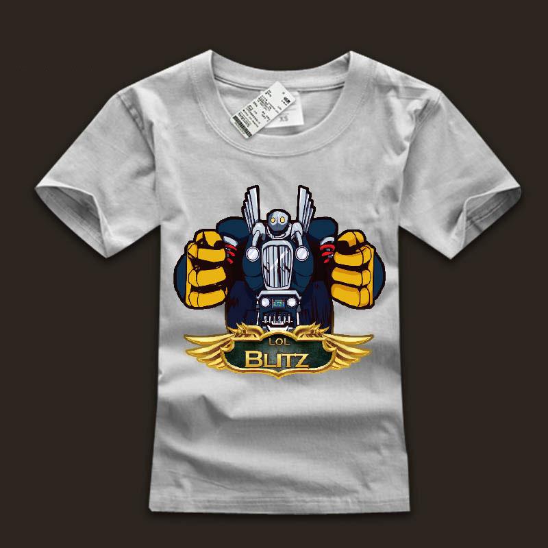 White LOL Blitzcrank T-Shirts For Boys | Wishining