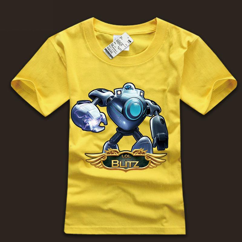 1986ea270 Cool LOL Blitzcrank T-Shirts For Boys   Wishining