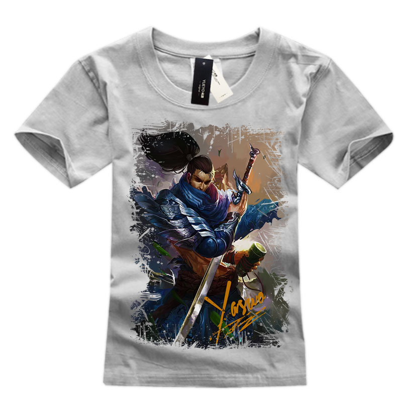 Yollow Men's league of leagends Yasuo Tee Shirts