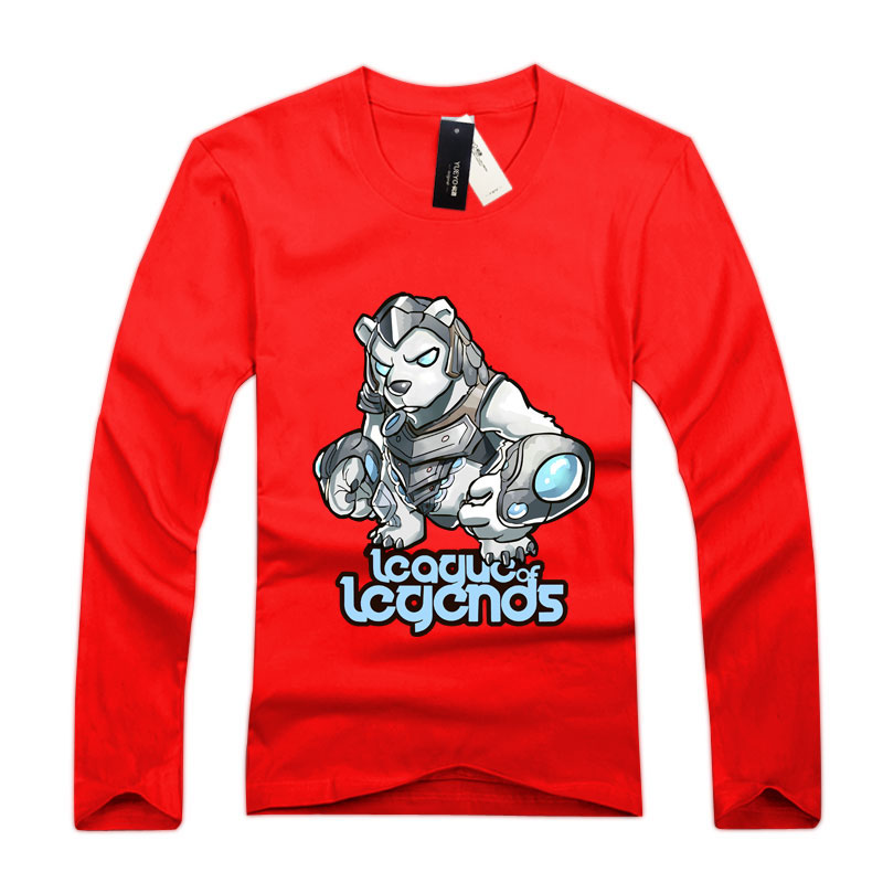 Long Sleeve league of leagends Volibear T-Shirts For Men