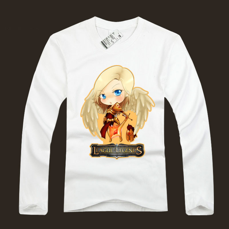 LOL Kayle T Shirts 100% Cotton Judicator Tees For Men