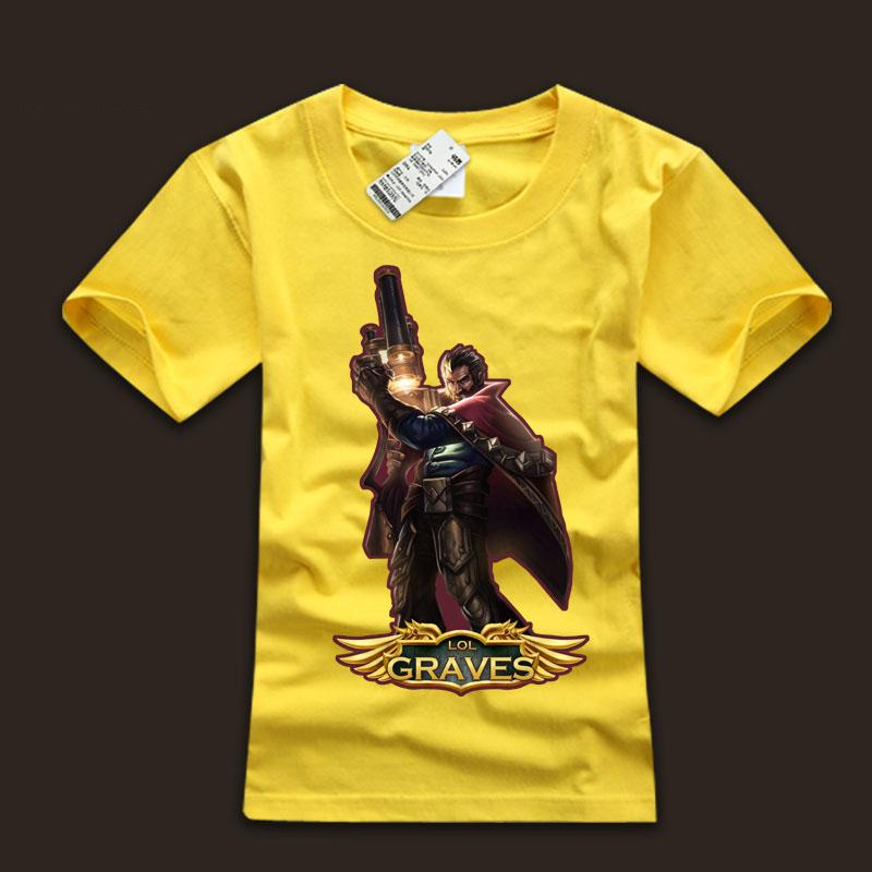 Men's league of leagends LOL Graves  Tee Shirts