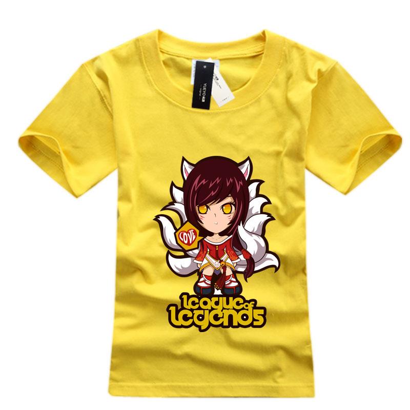 Mens Black League Of Leagends Ahri T-shirts