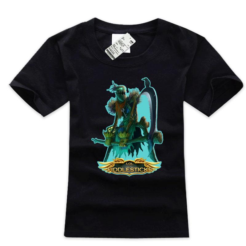 LOL Harbinger of Doom Fiddlesticks T-Shirts For Boys