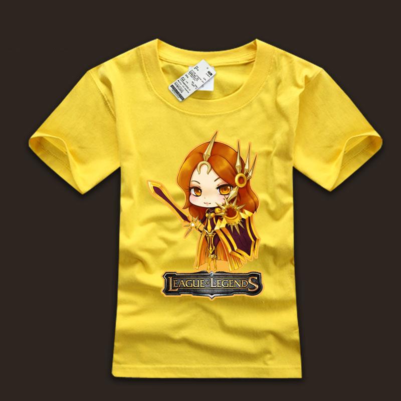 Lovely LOL Leona T-Shirts White Boys Tees