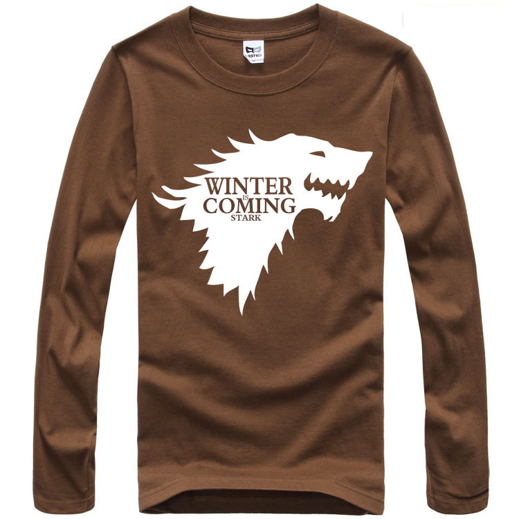 Game Of Thrones HOUSE STARK DIREWOLF WINTER IS COMING T-Shirt NWT Licensed Tee