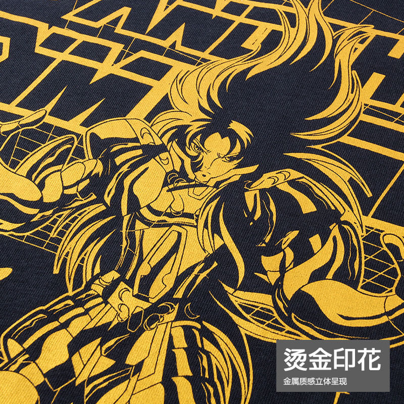 Saint Seiya Another Dime Blue T-shirts For Man