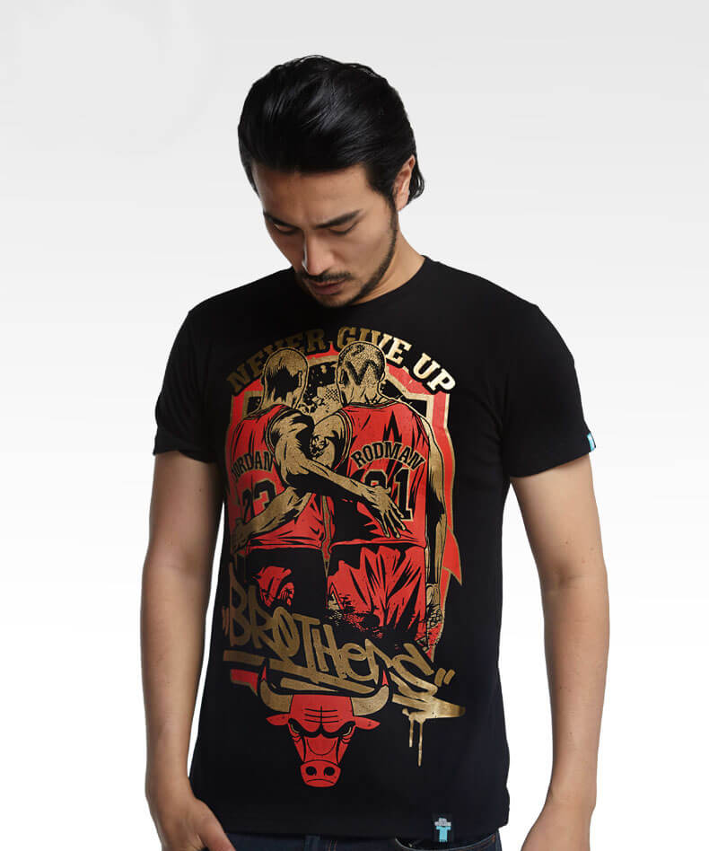 nba jordan black tshirts never give up basketball t shirts. Black Bedroom Furniture Sets. Home Design Ideas