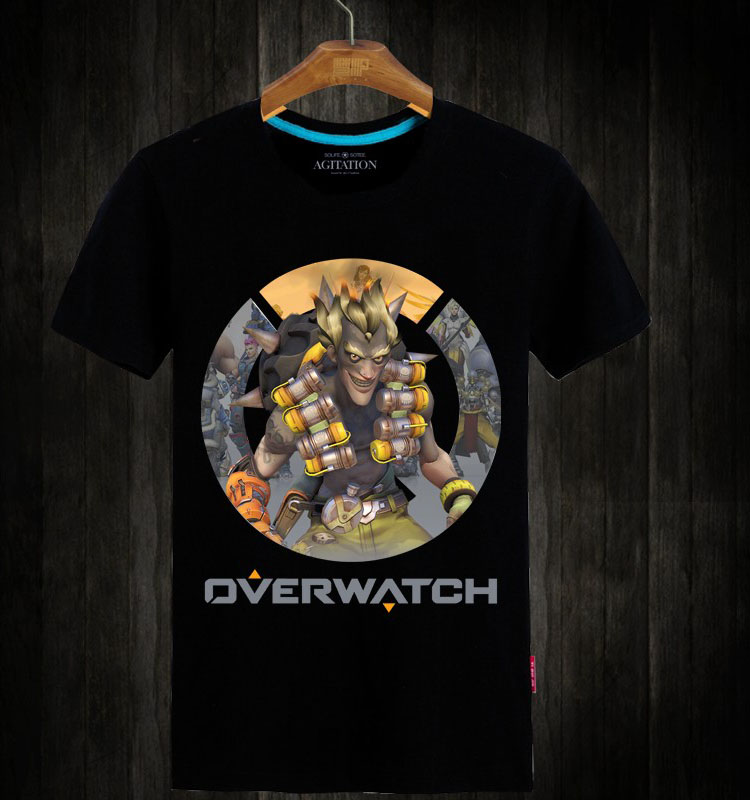 Over Watch Junkrat Shirts White Short Sleeve Tees