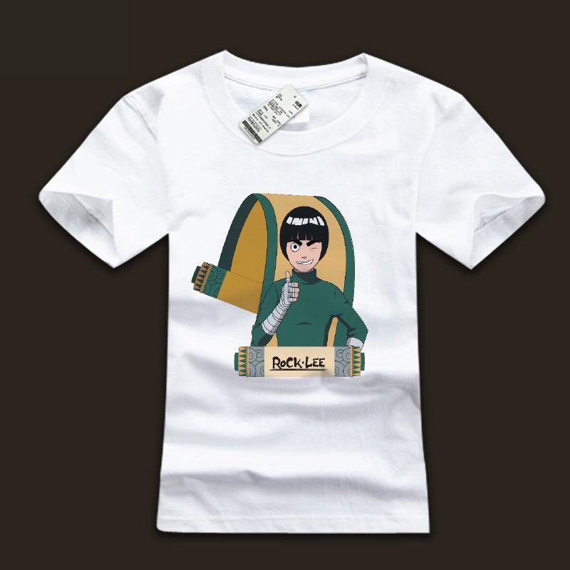 Quality Rock Lee T Shirts White Naruto Shirts For Mens