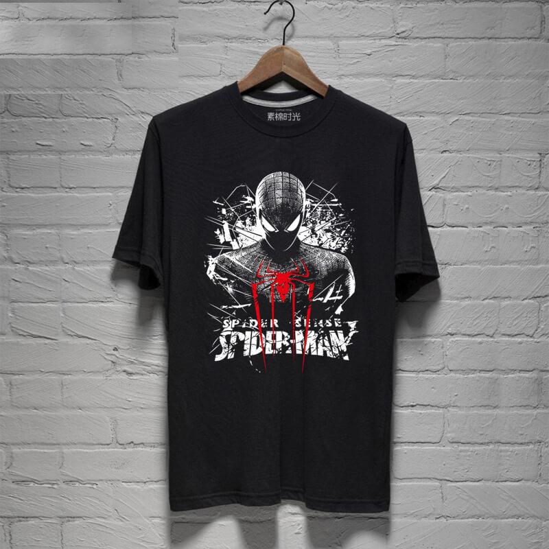 5fe1c0d4f4 A csodálatos Pókember pólók fekete Spider-Man póló férfi | Wishining