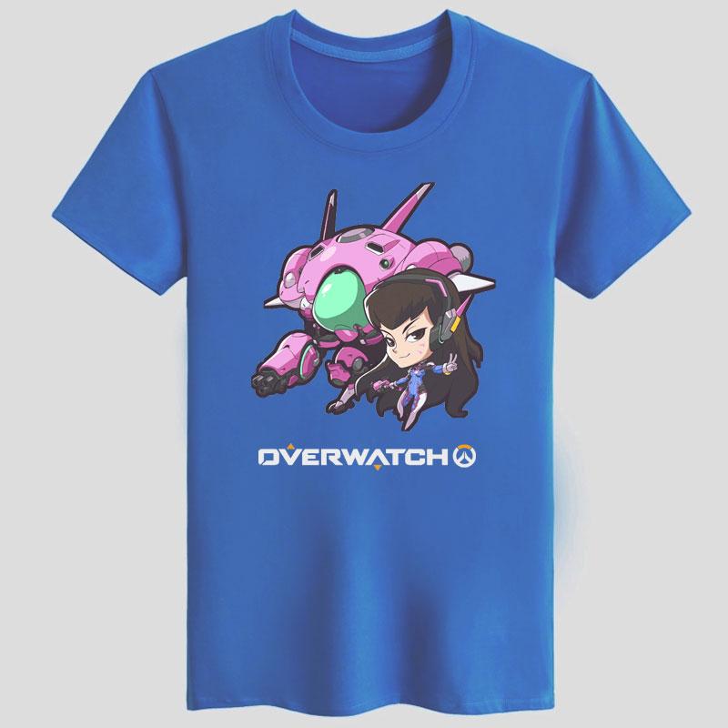 ... Blizzard Overwatch D.Va Character Shirts Black Couple T-shirts ... c986ce950505c