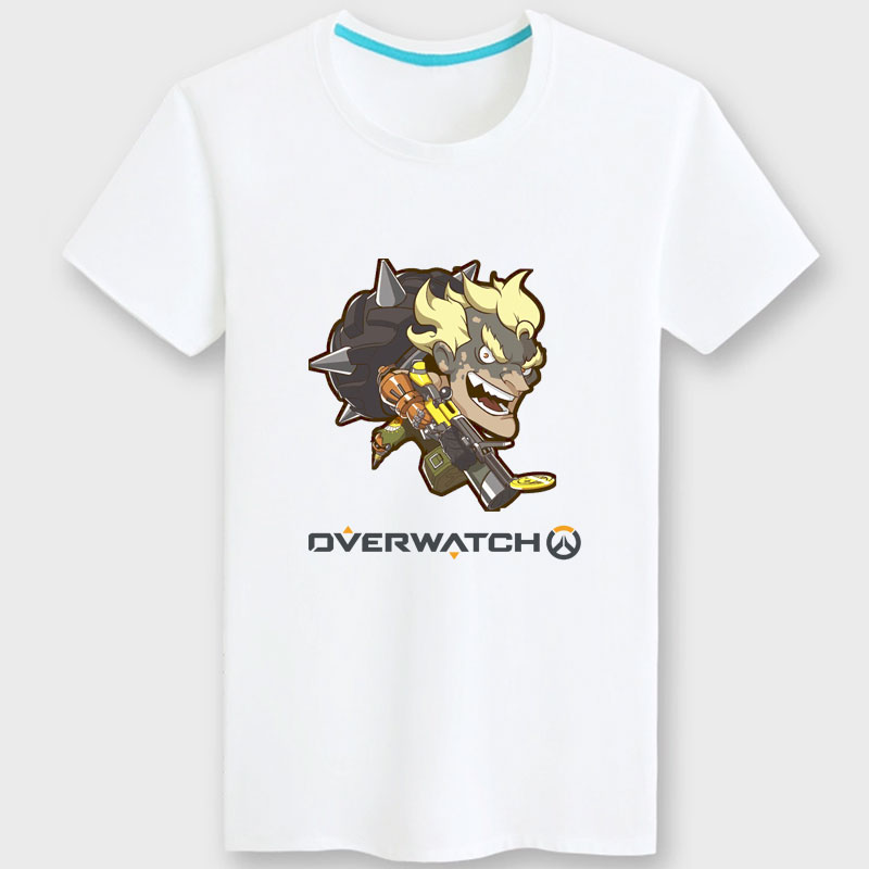 Funny Overwatch Junkrat Hero T Shirts Black Couple Tees