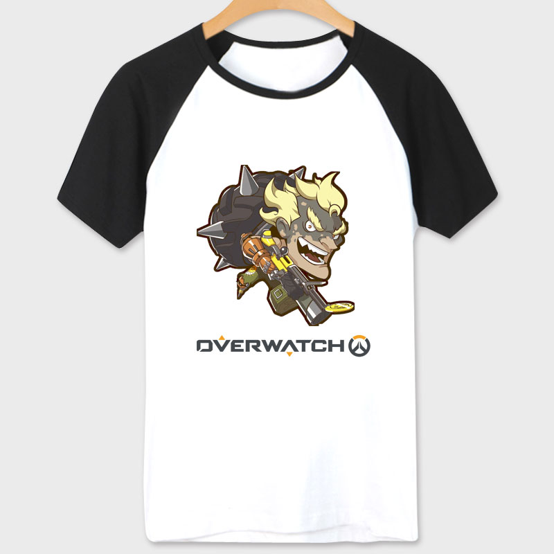White Blizzard Overwatch Game T-shirt Funny Junkrat T Shirts