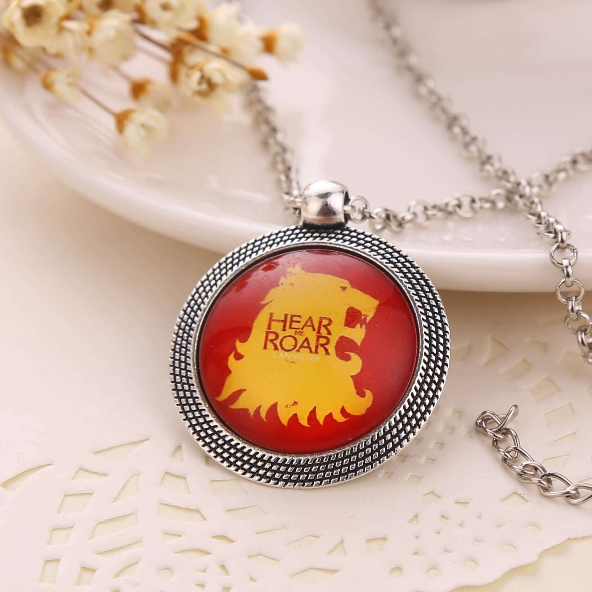 Game of Thrones House Lannister A Song of Ice and Fire Lion Pendant Necklace