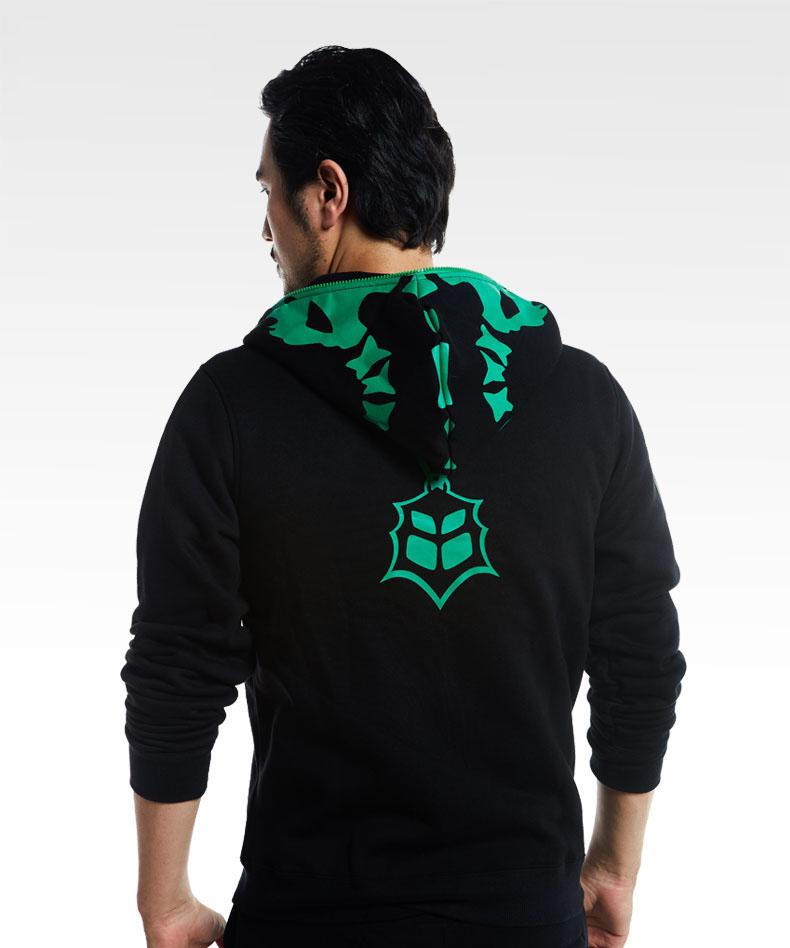 LOL Thresh Chain Warden Sweatshirt Black Full Face Cosplay Hoodie For Boy