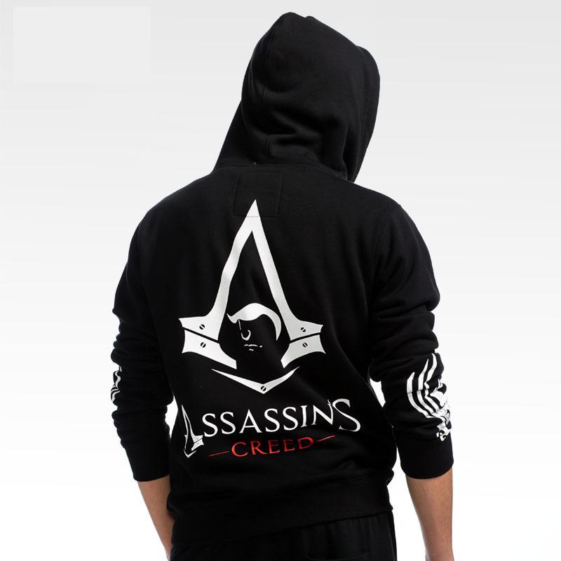 d2de6684ef Assassin's Creed kapucnis férfi fekete cipzár pulóverek | Wishining