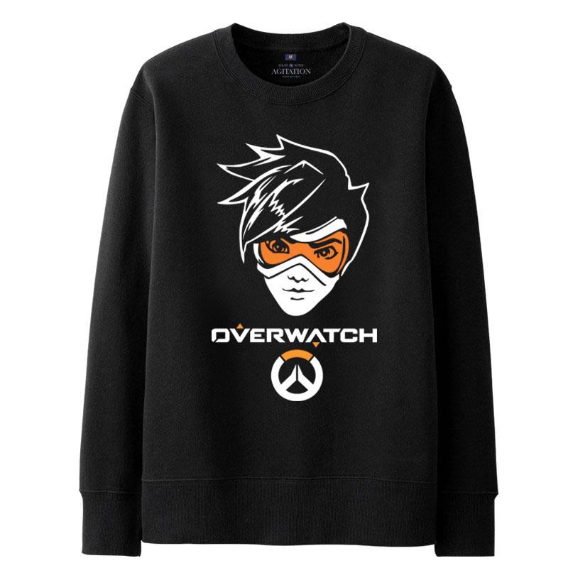Zwarte Trui Mannen.Overwatch Ow Tracer Sweatshirt Mannen Zwarte Trui Wishining
