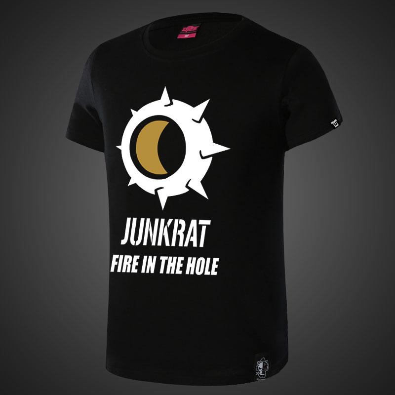 Lovely Overwatch Junkrat Tshirt Mens Black Tee