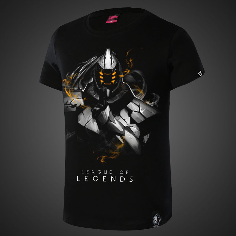 Darkness Wuju Bladesman League of Legends Master Yi Shirts Men Black T shirt