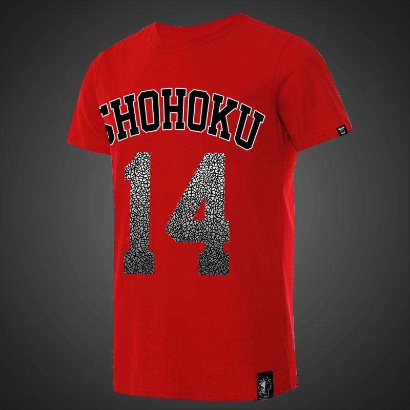 8d296e5598d Shohoku Slam Dunk Mitsui Hisashi T-shirt Men Red Shirts   Wishining