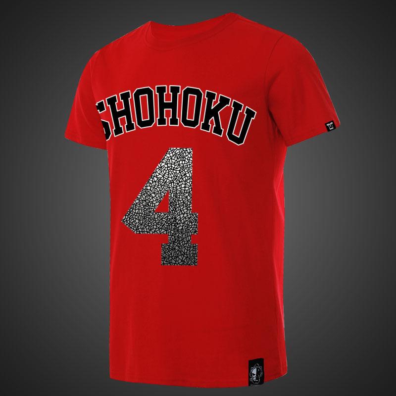 045e23a73 Shohoku Slam Dunk Akagi Takenori T-shirts For Young Red Tees