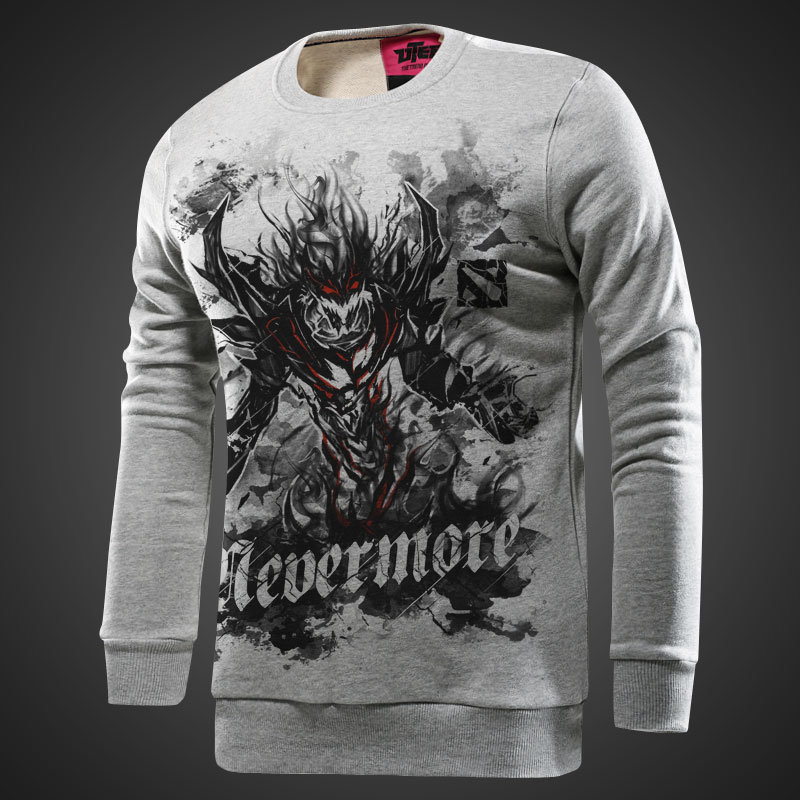 DOTA 2 Nevermore Hoodie Man Gray ink Shadow Fiend SF