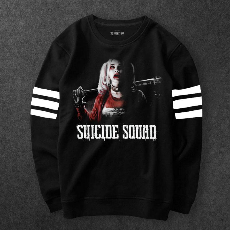 62302e56 ... кофты мужские черные Толстовки. Suicide Squad Margot Robbie Sweatshirts  Mens black Hoodies