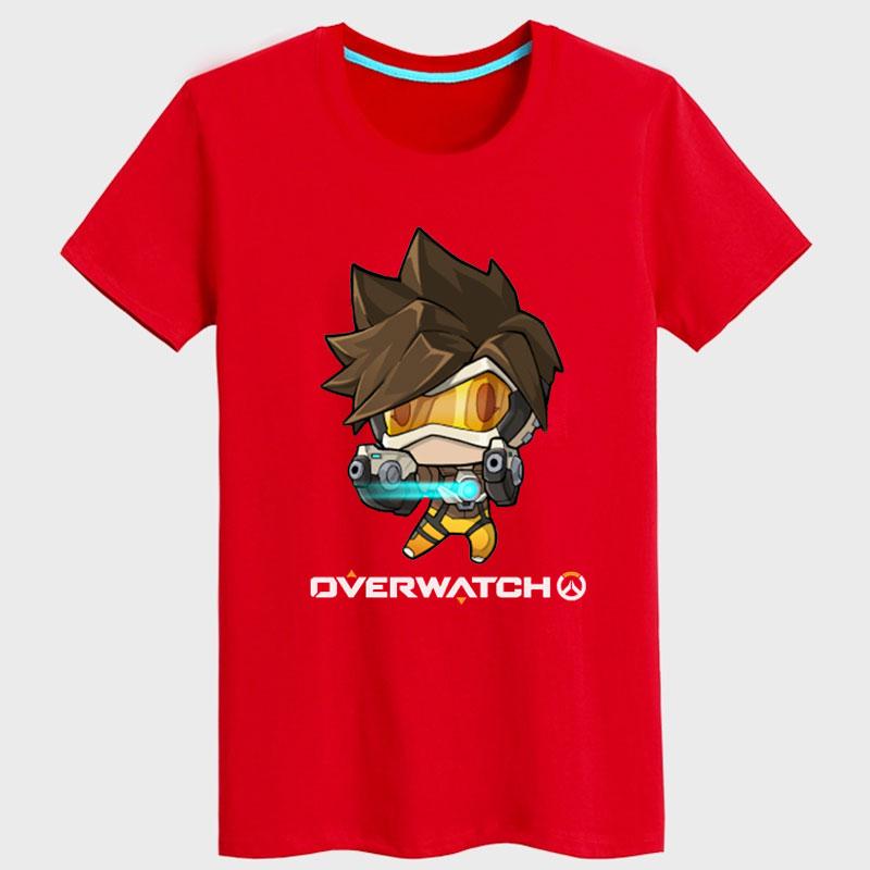 Cartoon Tracer Hero T shirt Men black Shirts