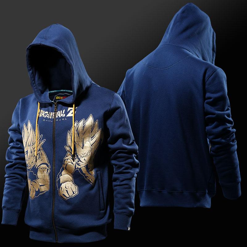 0930d3e3dc Bronzing Printing Dragon Ball Hoodies Mens Boys Vegeta VS Kakaluote  Sweatshirts ...