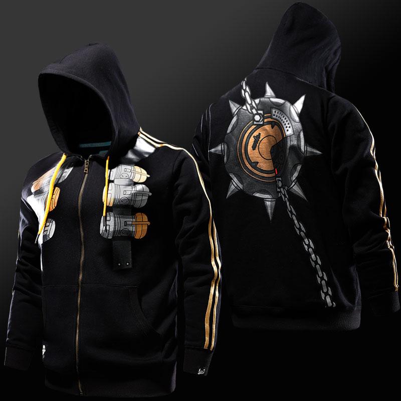 Ventisca Overwatch Junkrat Cosplay sudaderas OW héroe Zip Up Sudaderas