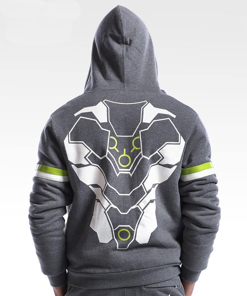 Invierno luminoso Overwatch Gengi Hoodie Blizzard OW Gengi héroe sudaderas