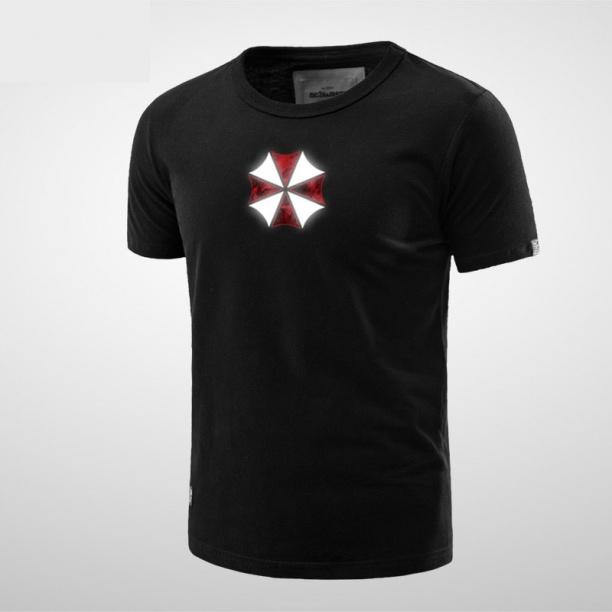 Resident Evil Stars Logo Tees Mens Black T-shirt