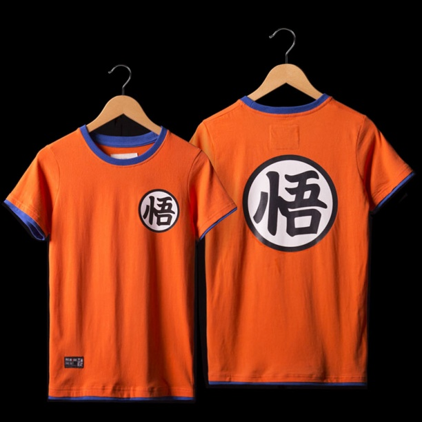 Dragon Ball Son Goku T-shirts Mens Orange Tee Shirt