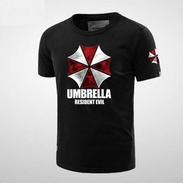 Resident Evil Umbrella Tee For Boys Black Tshirts