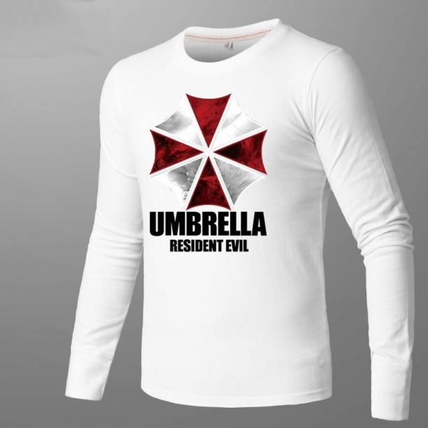 Resident Evil Umbrella T-shirt Men White Shirts
